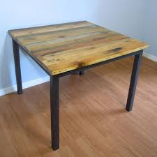 dining table for two for sale. original price $799 square dining table made from reclaimed pallet wood. 40 square, for two sale