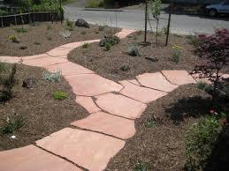Lawn & Garden:Designing Garden Pathway Idea Unique Garden Pathway  Landscaping Idea