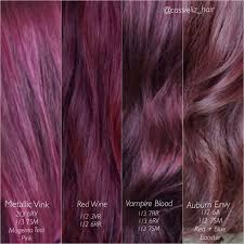 Violet Hair Colour Chart Best Picture Of Chart Anyimage Org
