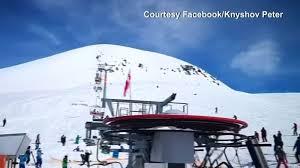Georgia ski lift accident Video shows chairlift horror at ski