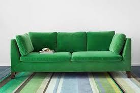 the ikea emerald velvet sofa