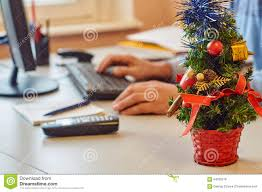 new year office decoration christmas tree office desk