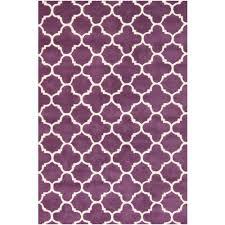 safavieh ham purple ivory 4 ft x 6 ft area rug
