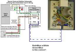 wiring diagram dsl wiring diagram cat 6 telephone wire, dsl Installing a Network Interface Device siecor external dsl wiring diagram splitter schematic utlizing new dedicated cat red green blue white shocking amazing between the devices