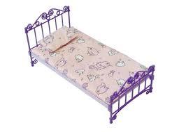 <b>ОГОНЕК Кроватка для кукол</b> с постельным бельем (сиреневая) [С ...