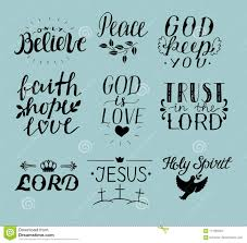Set Of 9 Hand Lettering Christian Quotes Jesus Holy Spirit Trust