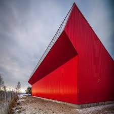 oil spill recovery unit in finland is illuminated by angled clerestory window