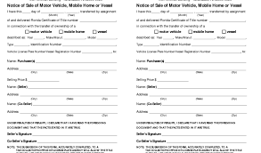 Sample Bill Of Sale Florida And State Florida Bill Sale Motor ...