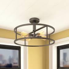 rustic ceiling lights. Sargeant 4-Light Semi Flush Mount Rustic Ceiling Lights I