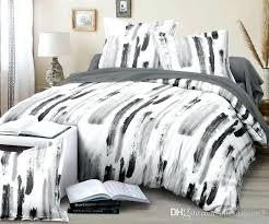 black and white duvet set new design black marble pattern bedding sets duvet cover set printed