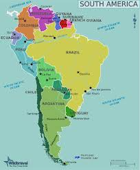 South America Country Map In 2019 South America Map South