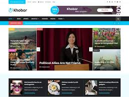 Newspaper Html Template Khobor Modern Magazine And Newspaper Html Template Dev Items Llc