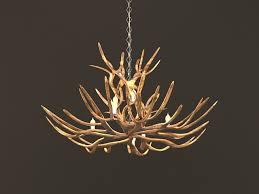 rustic tree branch chandeliers 3d model