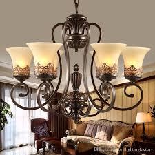antique black wrought iron chandelier rustic arts crafts bronze chandelier with 8 lights cream shade chandeliers living room pendant lamp pendant lamp