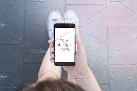 Modern smartphone mockup Product Mockups Creative Market