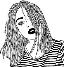 Hipster Tumblr Girl Coloring Pages Arty Art Art In 2019 Tumblr