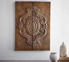 Exceptional Carved Wood Plank Art Pottery Barn Regarding Incredible Residence Carved Wooden  Artwork Wall Decoration Prepare