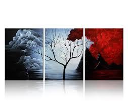 Amazon.com: Santin Art- Modern Abstract Painting the Cloud Tree High Q.
