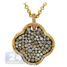 womens fancy diamond flower pendant