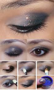 35 glitter eye makeup tutorials how to new years glitter eye subtle
