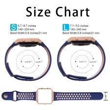 Watch Band Width Size Chart Igk Replacement Bracelet Smart Watch Band Silicone Sports Strap For Fitbit Blaze