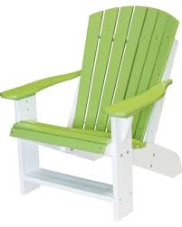 recycled plastic adirondack chairs. Outdoor WILDRIDGE Wildridge Two-Tone Recycled Plastic Adirondack Chair Lime Green/White Chairs I