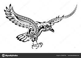 тату ворона форма векторное изображение Akvlv 238968186