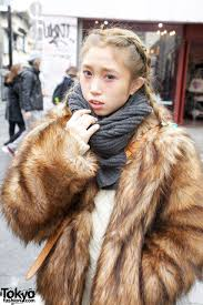 h m faux fur jacket bulky knit scarf