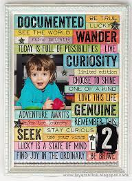 layers of ink bright words in a frame by anna karin with tim holtz