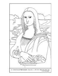 Da Vinci Mona Lisa Coloring Page And Lesson Plan Ideas Tpt