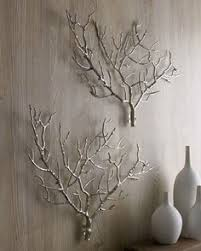 wall art with real tree branches