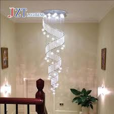 large lighting fixtures. ZYY Modern Spiral K9 Crystal LED Ceiling Lights Large Staircase Indoor GU10LED Long Stair Lamps Lighting Fixtures-in From Fixtures
