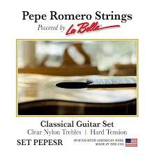 La Bella String Tension Chart Pepe Romero Strings Pepesr Hard Tension Guitar Salon