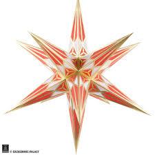 Hartensteiner Weihnachtsstern Für Innen Weiß Rot Mit Gold