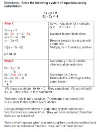 photo detail solving systems of equations by substitution worksheet answers