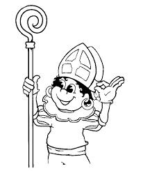 Sinterklaas En Zijn Maatjes Piet Kleurplaat Oh Hemeltjewat Doet