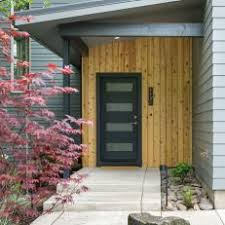 hardwood wall modern black door anese maple create curb appeal