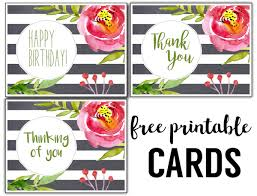 Birthday Cards Images Free Free Thank You Cards Print Free Printable Black And White Thank You