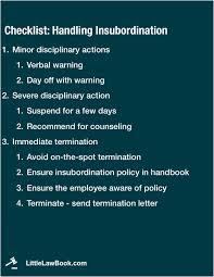 Insubordination Definition And Handling Includes Checklist Llb