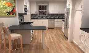 finished adel kitchen white shaker ikea cabinets