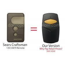 craftsman door opener. Sears Craftsman 139.53879 Compatible 390 MHz Single Button Garage Door Opener Remote Control D