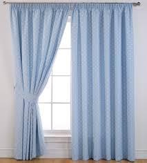sundour dotty polka dot self lined blackout 3 pencil pleat curtains powder blue various sizes
