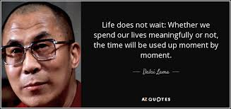 Dalai Lama Quotes On Life Dalai Lama quote Life does not wait Whether we spend our lives 16