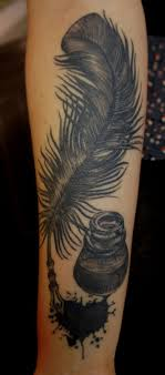 Feather Quill Pen Ink Bottle Would Be Such A Cool Tattoo Though I