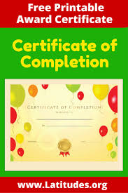 certificates of completion for kids free certificate of completion award certificate child and parents