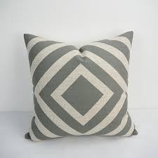 Geometric Grey pillow covers 24X24 inch extra large sofa cushion