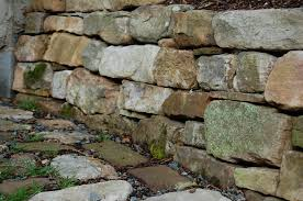 picture the stones i used to build this low retaining wall