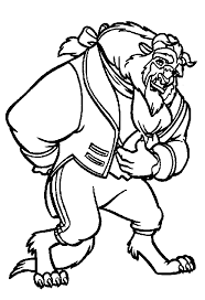 Disney Beauty And The Beast Coloring Pages Comment To Beauty And