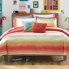 magnificent twin comforter sets multicolor polyester stripe