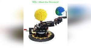 ⭐️ MOC Earth Moon and Sun Model Technology Construction toys WORLD DIY  Diamond mini Building Block - YouTube